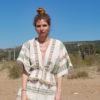 Celia Dragouni Eagle Green V neck Woven Top