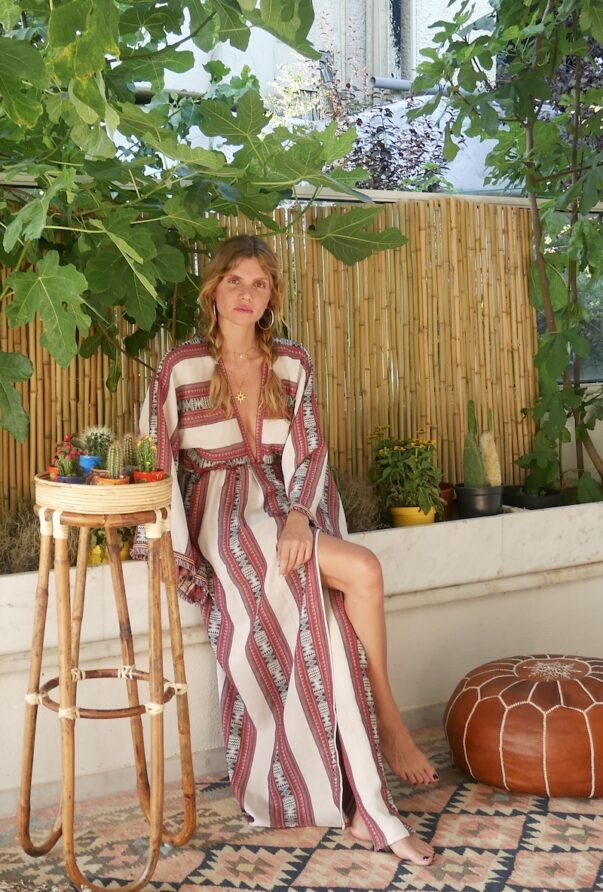 Celia Dragouni Afro Vibes Red Kimono Dress
