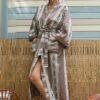 Celia Dragouni The Taupe Long Robe