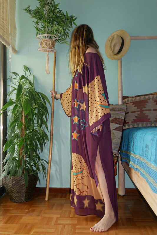 Celia Dragouni The Purple Buffalo Star Kaftan Dress