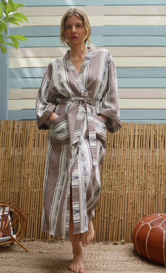 Celia Dragouni The Taupe Long Robe