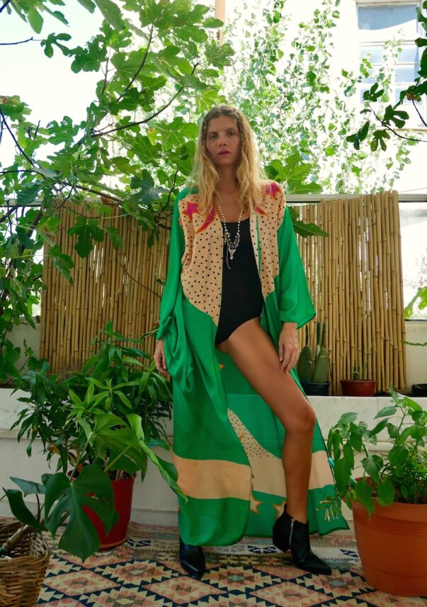 Celia Dragouni The Green Buffalo Star Kimono