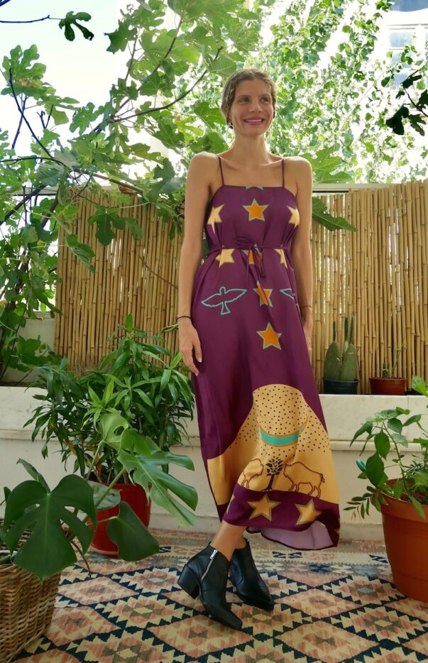 Celia Dragouni The Purple Buffalo Star Slip Dress