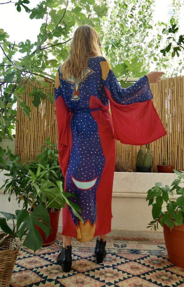 Celia Dragouni The Wonder Eagle Blue Kimono