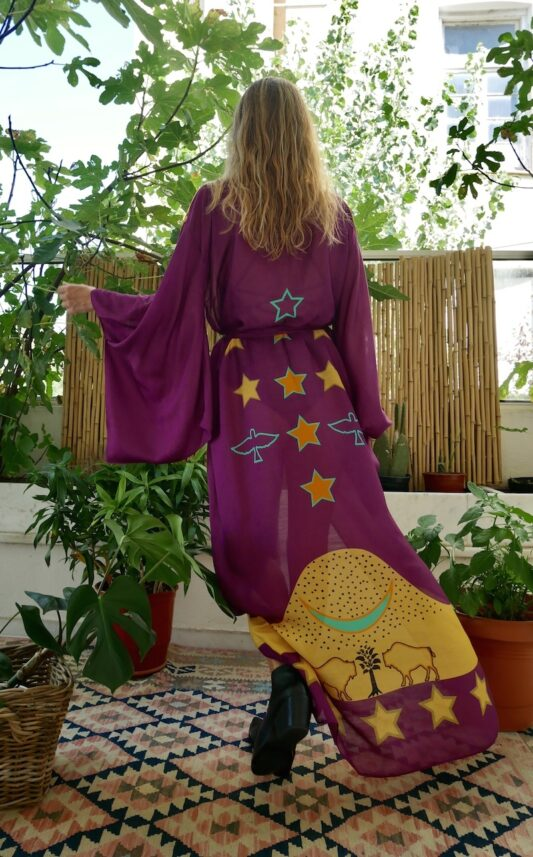Celia Dragouni The Purple Buffalo Star Kimono