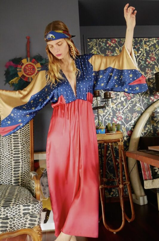 Celia Dragouni The Wonder Eagle Kimono Dress