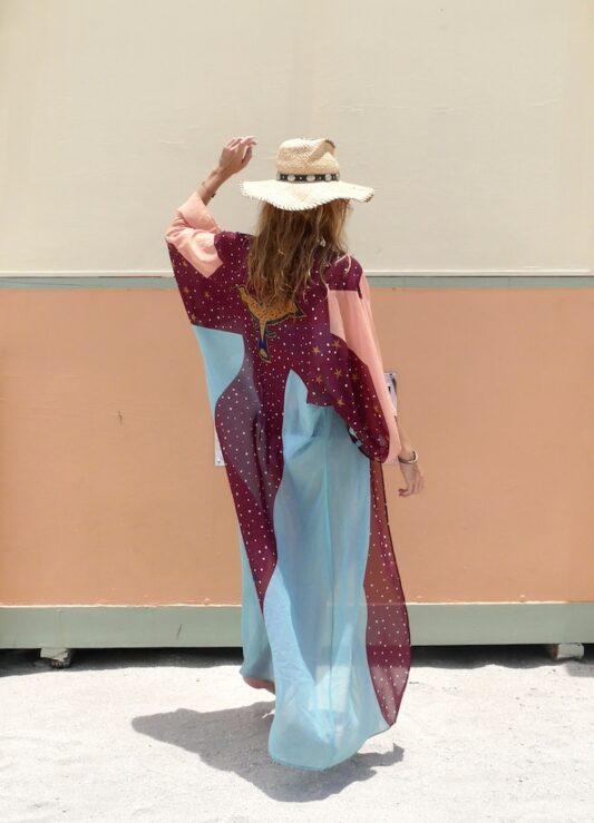 The Turquoise Eagle Moon Kimono Robe