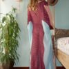 Celia Dragouni The Turquoise Eagle Kaftan