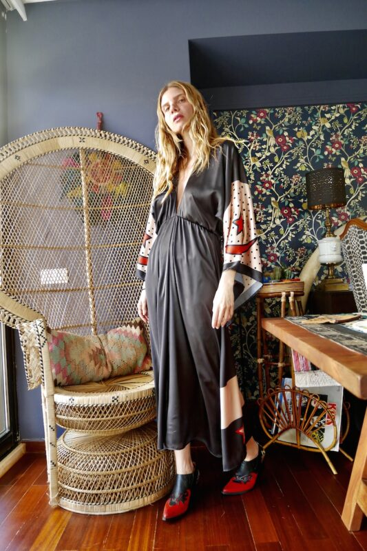 Celia Dragouni The Midnight Buffalo Star Kimono Dress