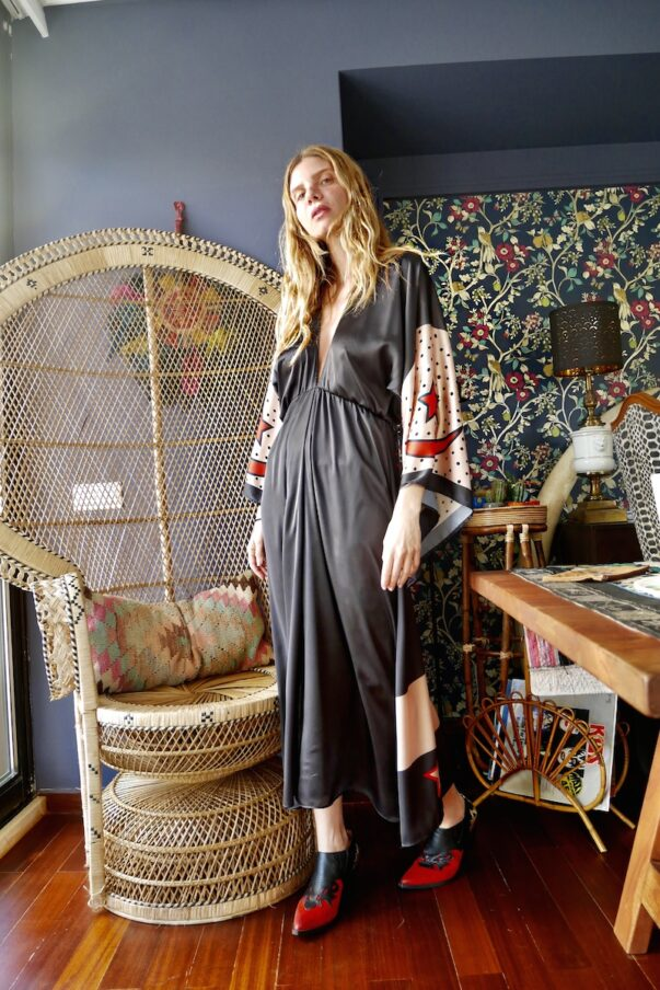 Celia Dragouni The Midnight Buffalo Star Kimono Dress