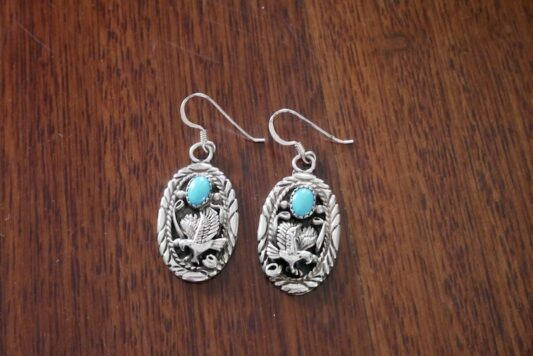 Celia Dragouni Navajo Eagle Earrings