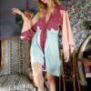 Celia Dragouni The Mini Eagle Moon Kimono Dress