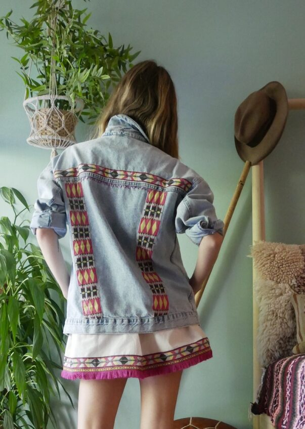 Celia Dragouni The Native Embellished Jean Jacket