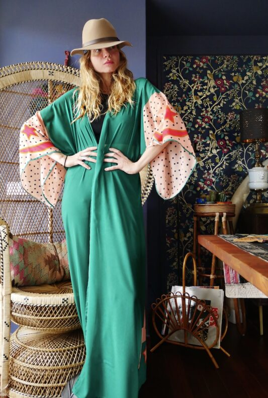 The Green Buffalo Star Kimono Robe
