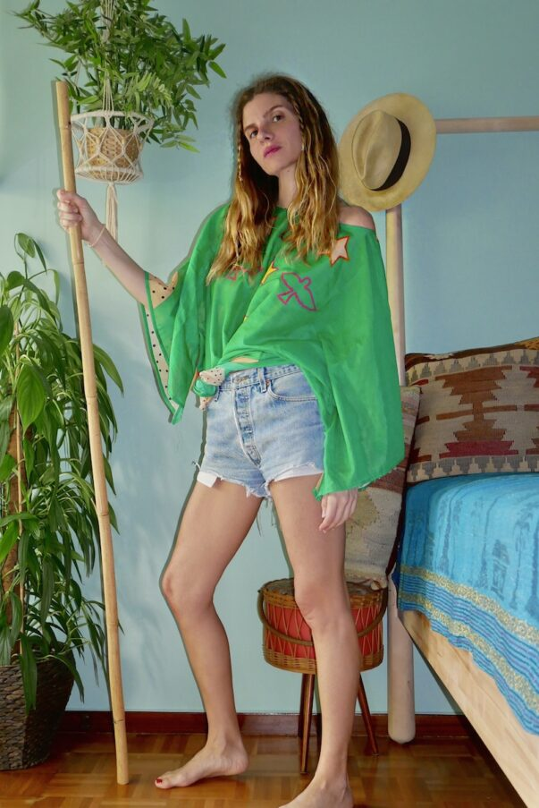 Celia Dragouni The Green Buffalo Star Mini Kaftan