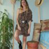Celia Dragouni Ruffled Leo Dress