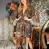 Celia Dragouni Jungle Circus Mini Kimono Dress