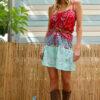 Celia Dragouni The Patchwork Bandana Ruffled Skirt