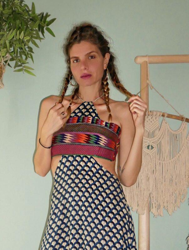 Celia Dragouni The 70's Beauty Cut Out Dress