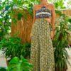 Celia Dragouni Patchwork Cut Out Dress