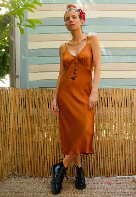 Celia Dragouni The Caramel Negligee Dress