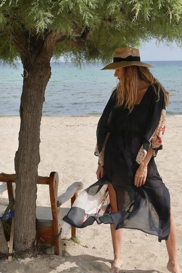 Celia Dragouni The Midnight Buffalo Star Kaftan Dress