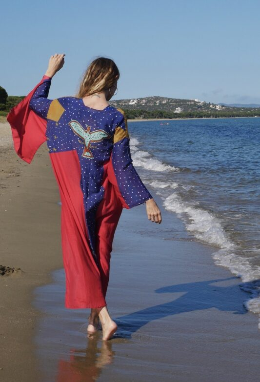 Celia Dragouni The Wonder Eagle Blue Kimono