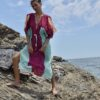 Celia Dragouni The Turquoise Eagle Kaftan Dress