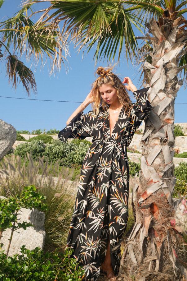 Celia Dragouni The Tropical Kimono Dress
