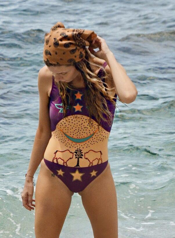 Celia Dragouni The Purple Buffalo Star One-Piece Swimsuit