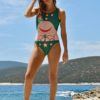 Celia Dragouni The Green Buffalo Star One-Piece Swimsuit