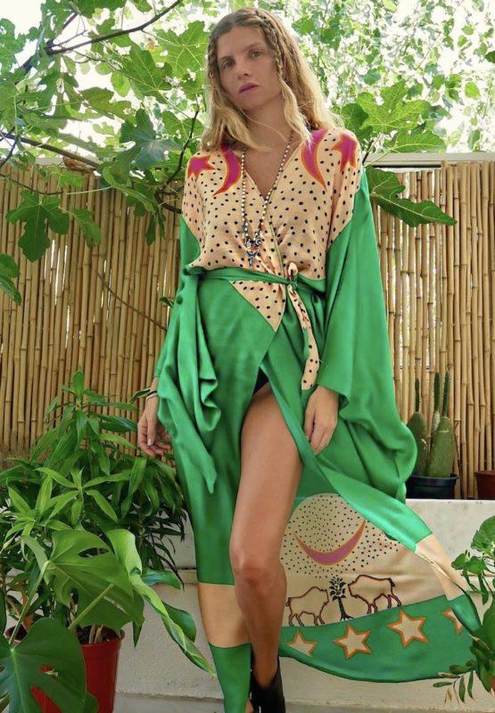 Celia Dragouni The Green Buffalo Star Kimono