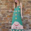 Celia Dragouni The Green Buffalo Star Slip On Dress