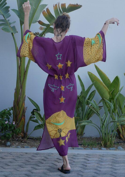 Celia Dragouni The Purple Buffalo Star Kaftan Dress