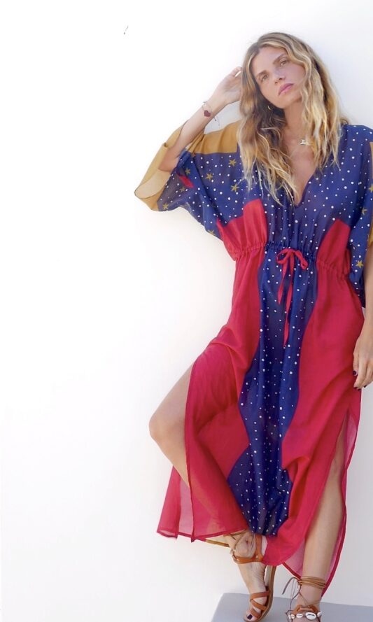 Celia Dragouni The Wonder Eagle Kaftan Dress