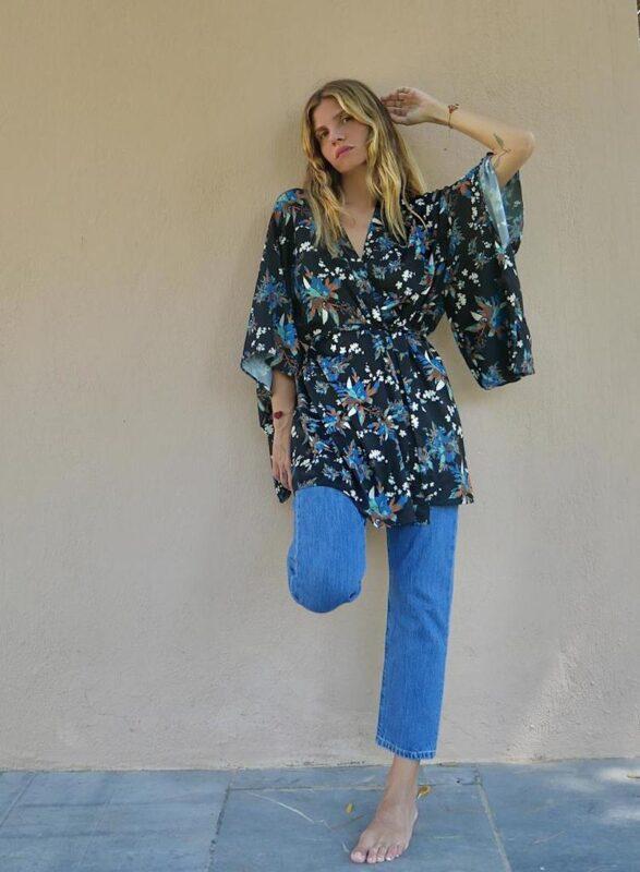 Celia Dragouni The Blueflower Kimono