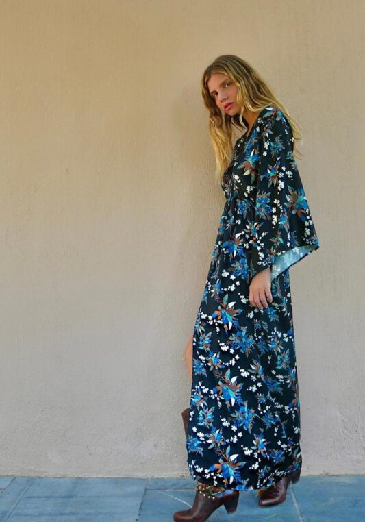 Celia Dragouni The Blueflower Kimono Dress