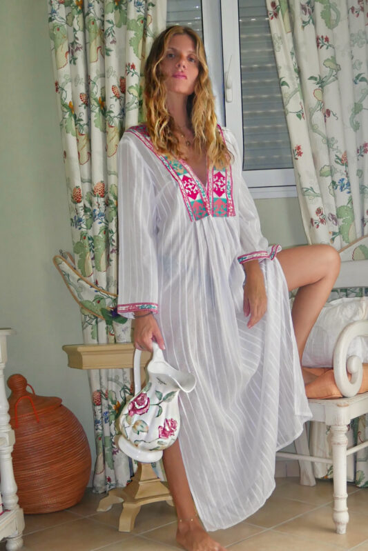Celia Dragouni The Fussia Motif Kaftan