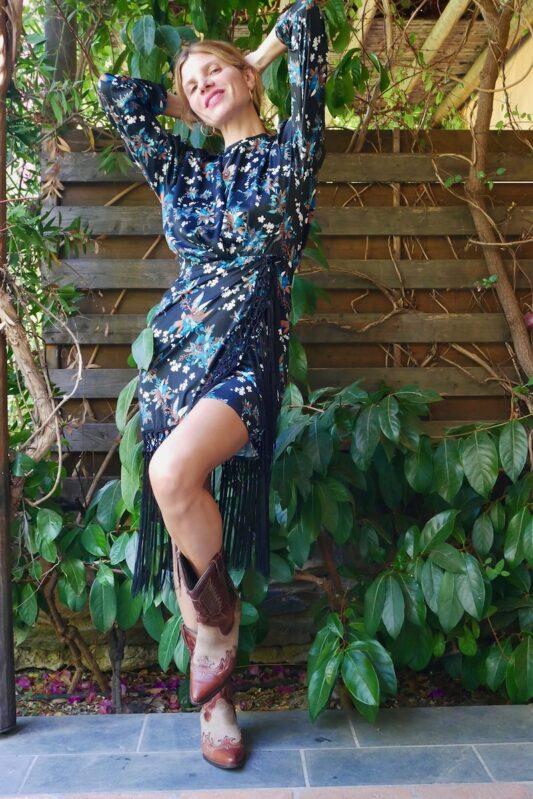 Celia Dragouni The Blueflower Fringed Dress