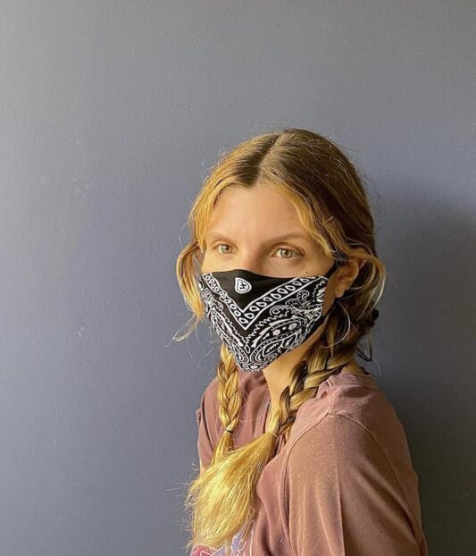 Celia Dragouni The Black Bandana Mask