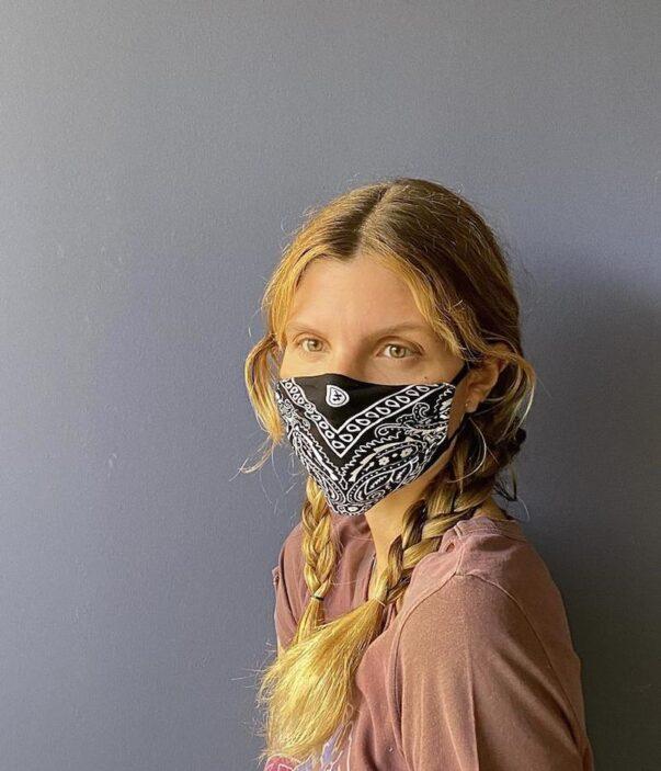 Celia Dragouni The Black Bandana Mask