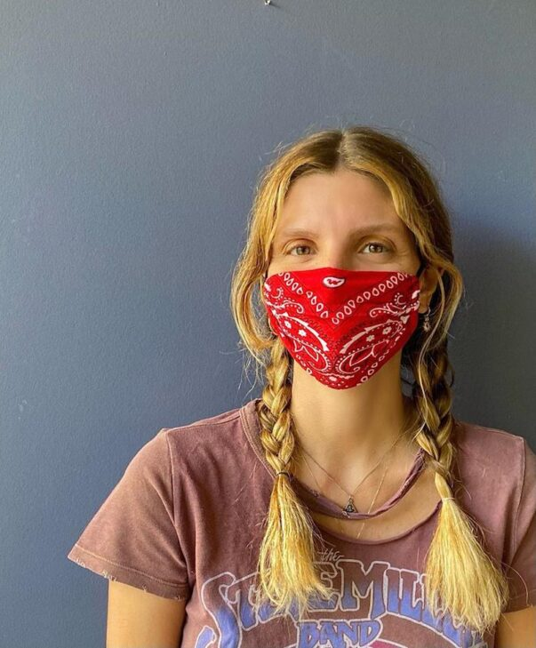 Celia Dragouni The Red Bandana Mask