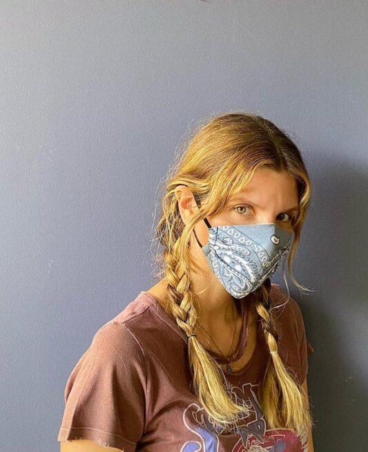 Celia Dragouni The Grey Bandana Mask