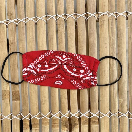 Celia Dragouni The Red Bandana Mask