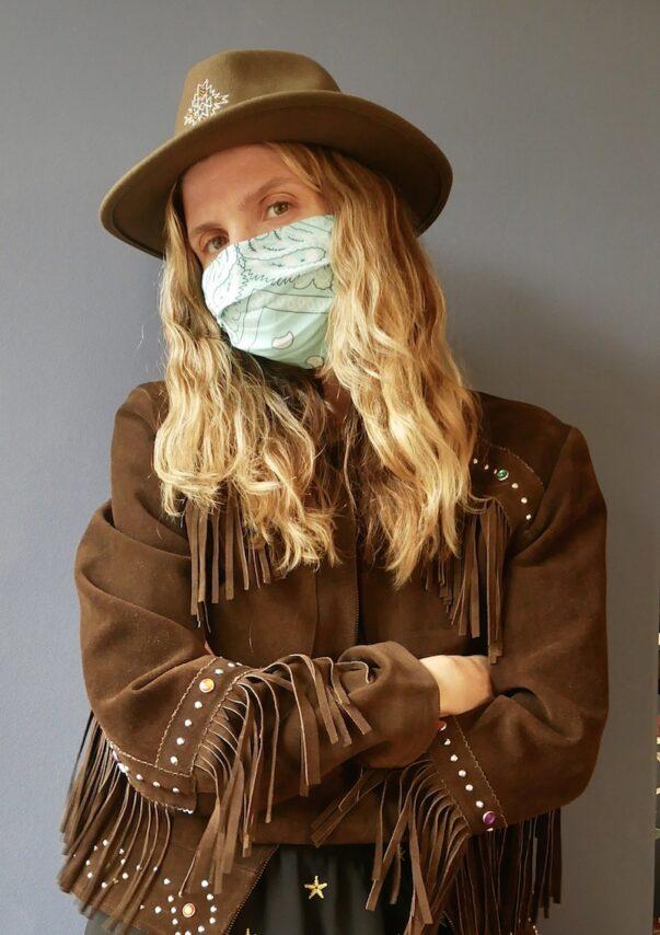 Celia Dragouni The New Turquoise Bandana Mask