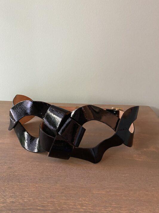 Celia Dragouni The Leather Chain Belt