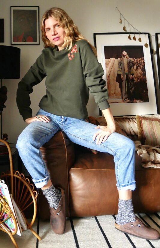 Celia Dragouni The Ethnic Tassel Sweater