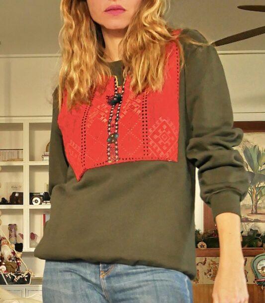 Celia Dragouni The Vintage Tassel Sweater
