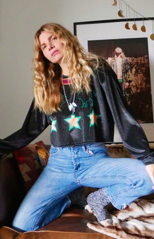 Celia Dragouni The Billie Jean Crop Top