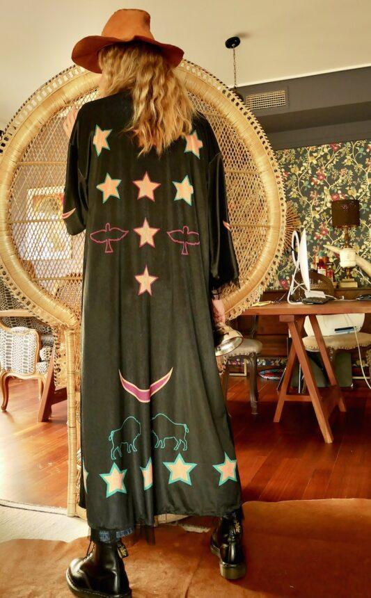 Celia Dragouni The Star Spirit Velvet Kimono